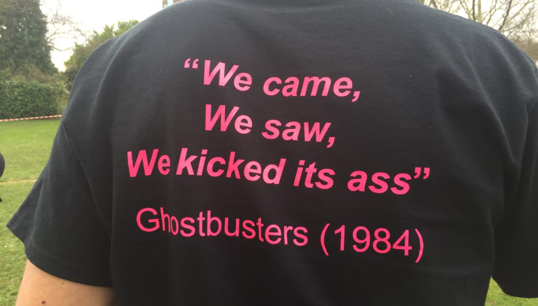 Ghostbusters T-shirt slogan