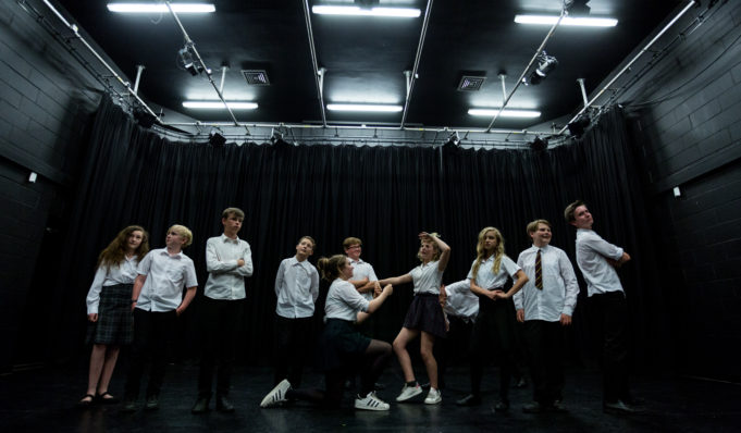 Gulbenkian youth theatre Workshops. Photography by Jason Pay-11