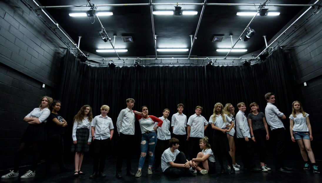 Gulbenkian youth theatre, Workshops. Photography by Jason Pay-14