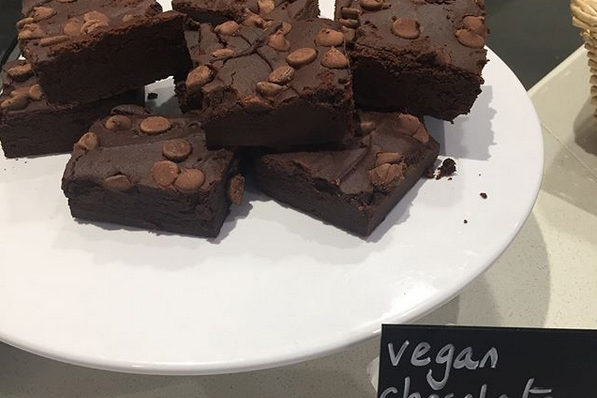 Cafe  vegan chocolate brownies