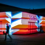 What we do - waves outdoor projection