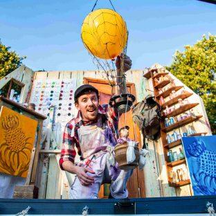 The Puppet Van Sending off Hot Air Balloon