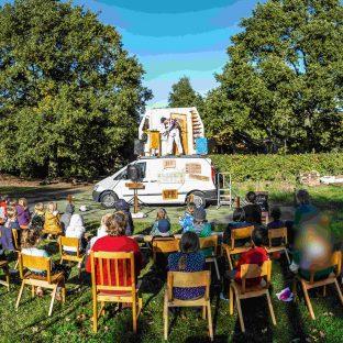 The Puppet Van Wide Shot of The Puppet Van