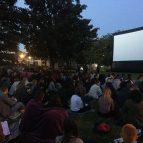 Outdoor cinema screening